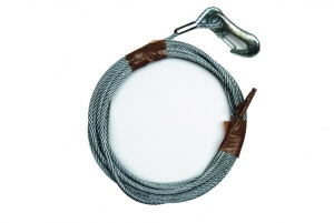B nte loose wire rope with carabiner 6.0 mm, 15 m long